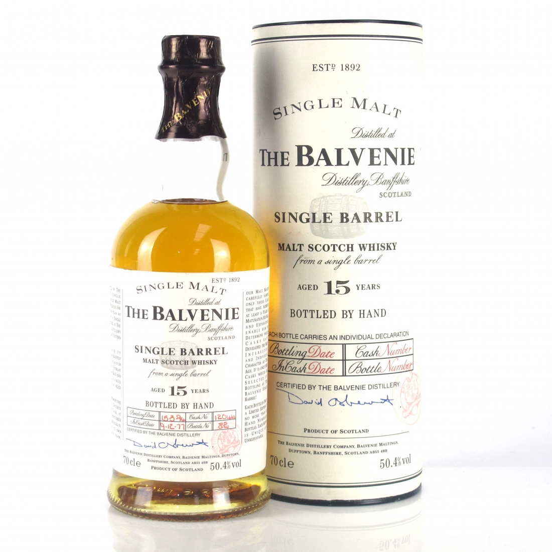 Balvenie 1977 15 Year Old Single Barrel / 17 Year Old