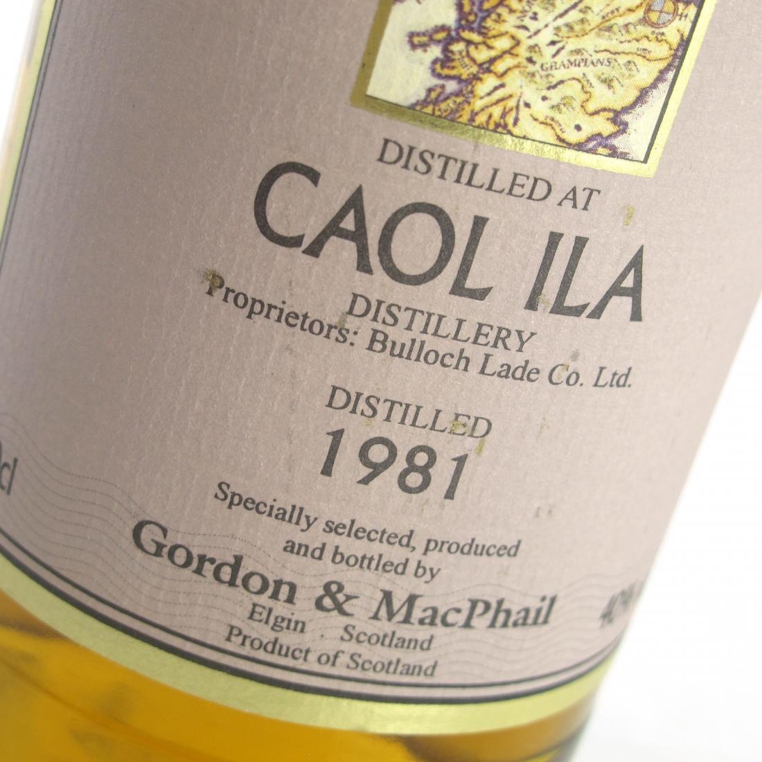 Caol Ila 1981 Gordon and MacPhail