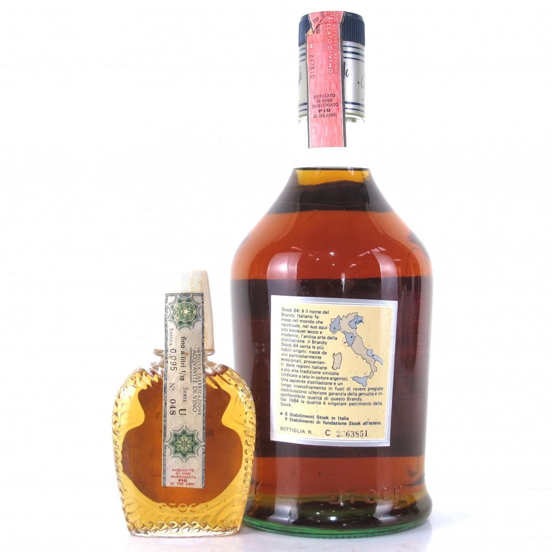 Stock 84 VVS OP Brandy 1970s 1.5 Litre / Including 10cl Miniature