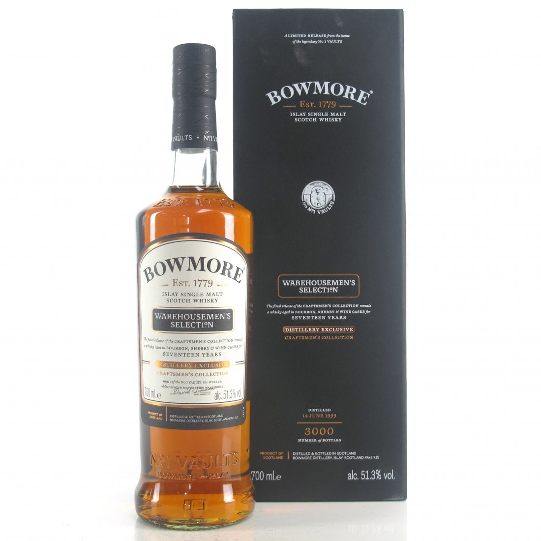 Bowmore 1999 Warehousemen's Selection 17 Year Old / Distillery Exclusive