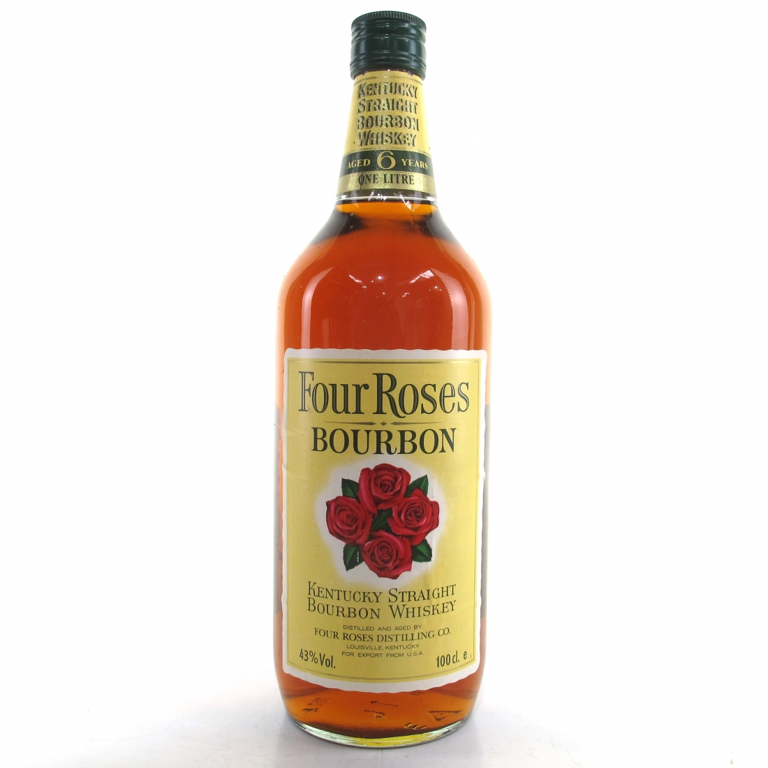 Four Roses 6 Year Old Kentucky Straight Bourbon 1 Litre 1980s