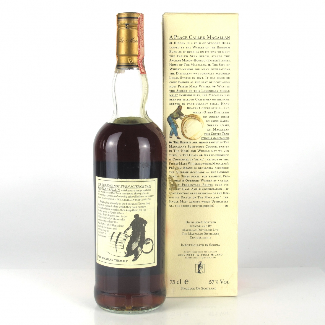 Macallan 10 Year Old Full Proof 1980s / Giovinetti Import