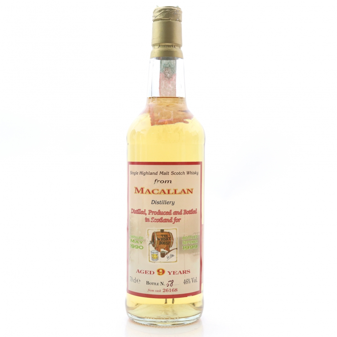Macallan 1990 The Whisky House Single Cask 9 Year Old
