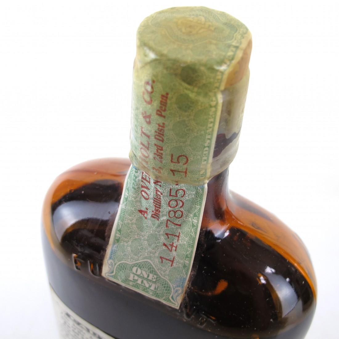 Old Overholt 1914 Bottled in Bond 14 Year Old 1 Pint / Prohibition Era Bottling