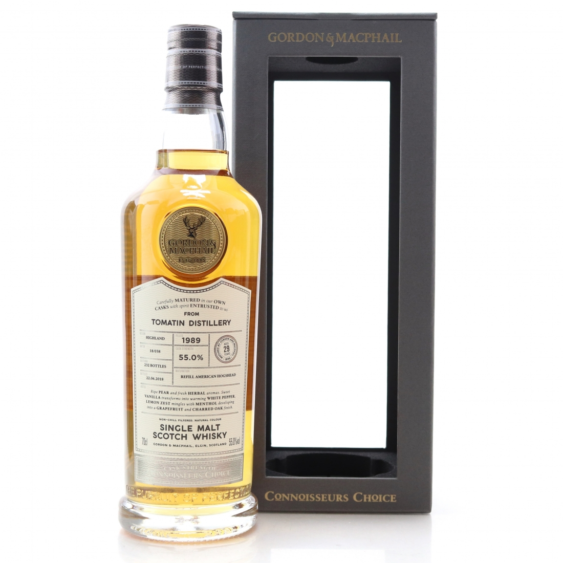 Tomatin 1989 Gordon and MacPhail 29 Year Old Batch #18/038