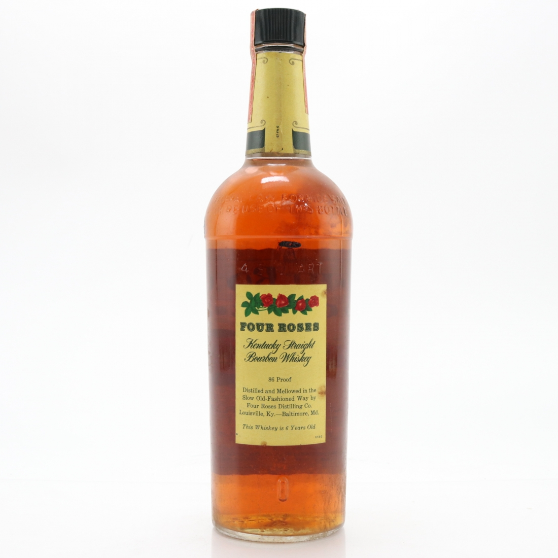 Four Roses 6 Year Old Kentucky Straight Bourbon 1970s