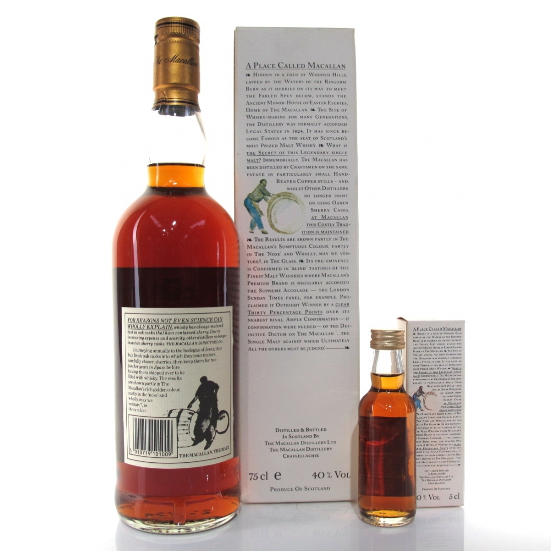 Macallan 10 Year Old 1980s / Including Miniature