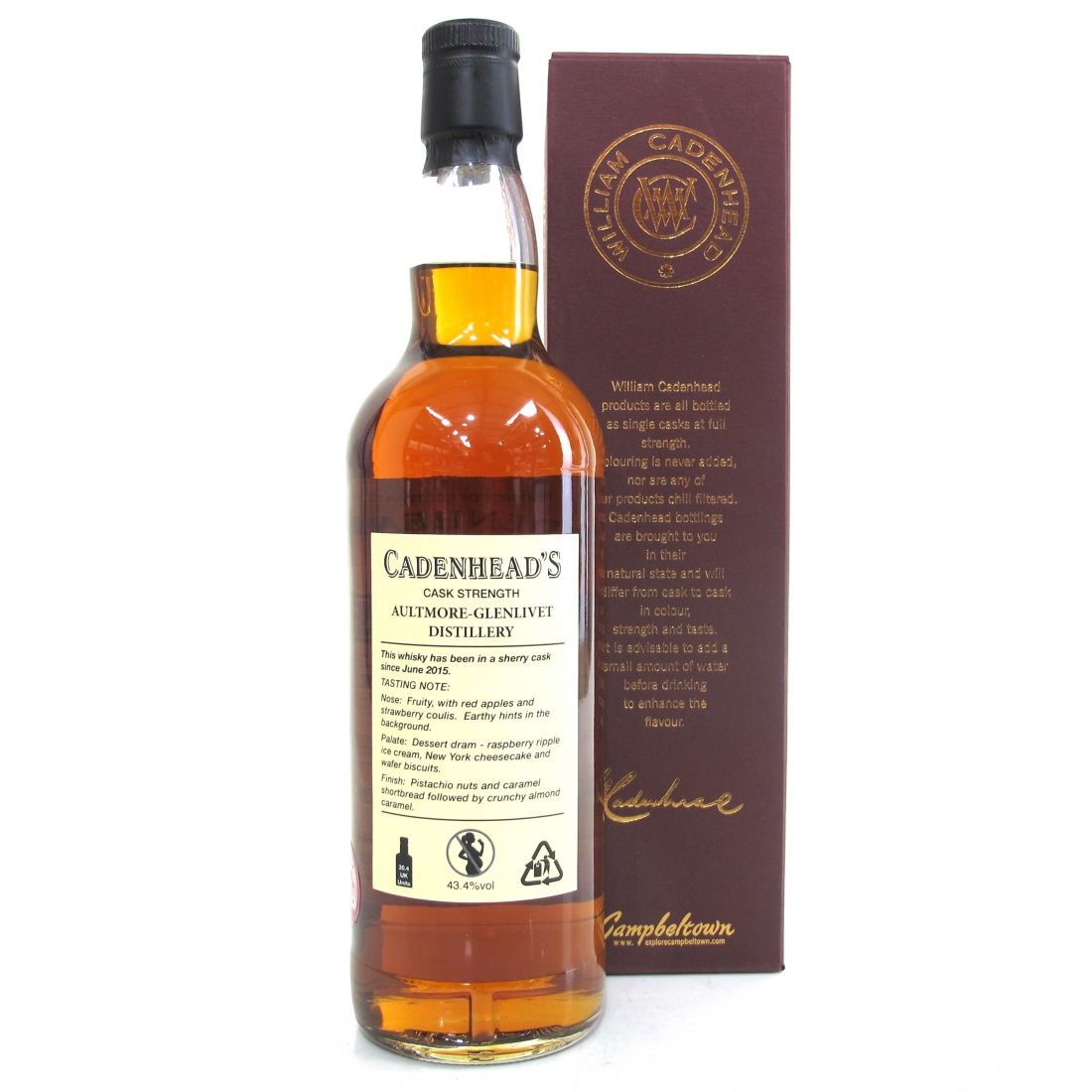 Aultmore 1989 Cadenhead's 28 Year Old / Sherry Cask