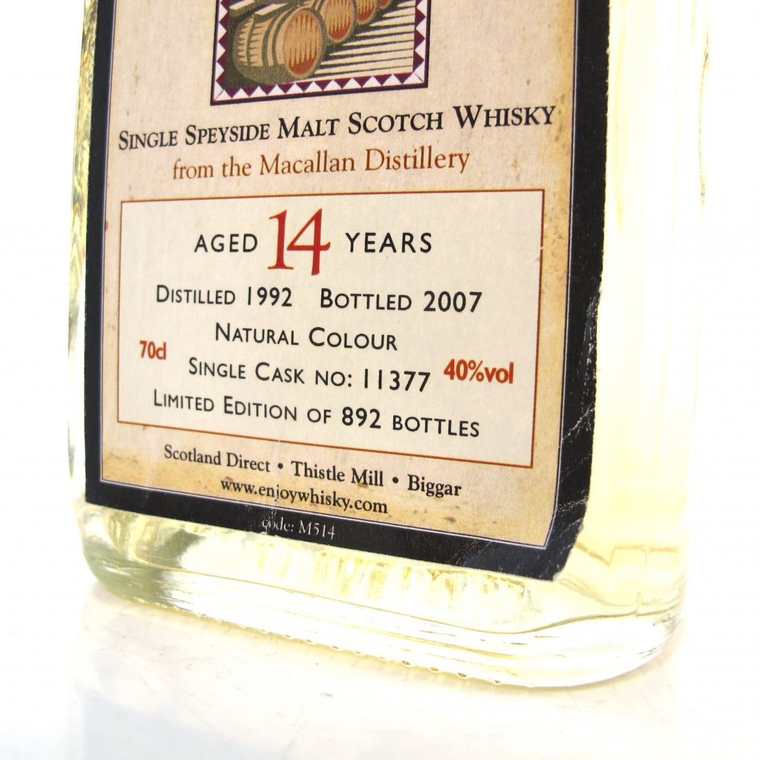 Macallan 1992 Whisky Connoisseur 14 Year Old