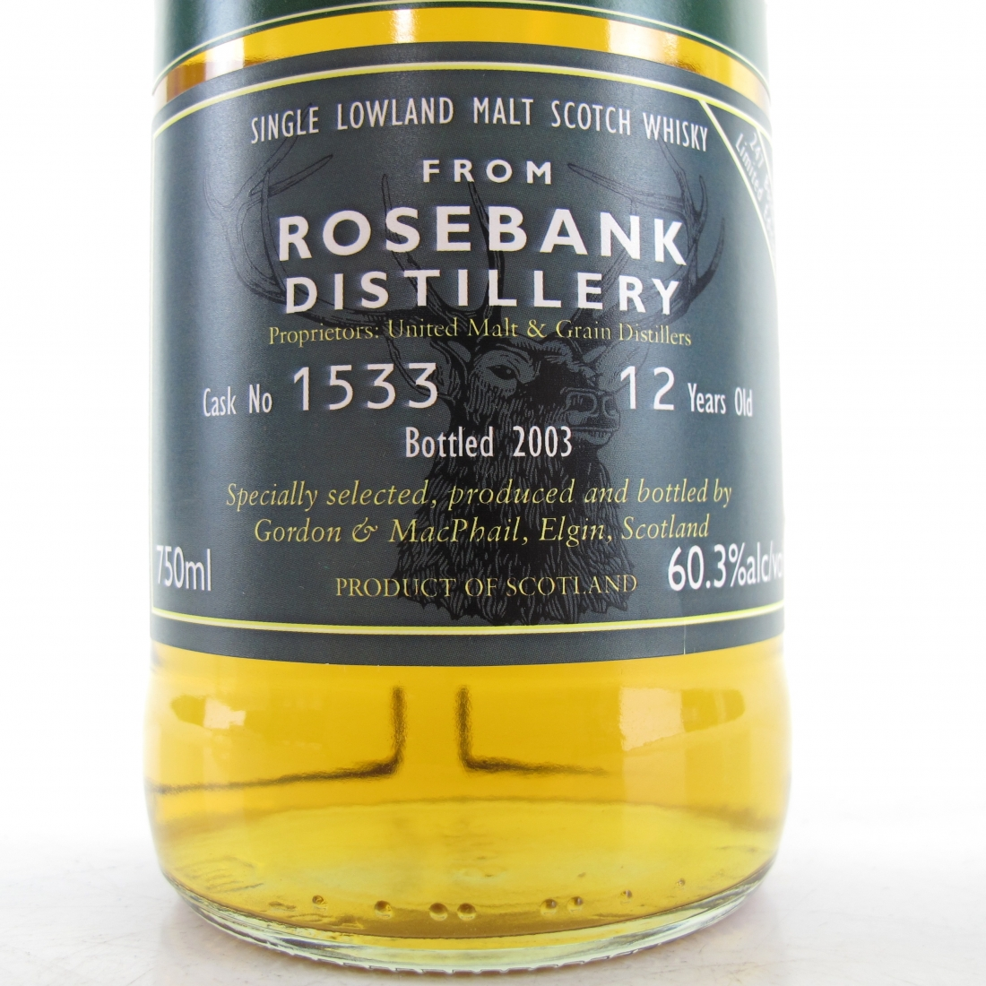 Rosebank 12 Year Old Gordon and Macphail Reserve Cask Strength 75cl / US Import