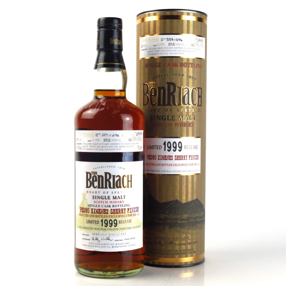 Benriach 1999 Single Cask / Pedro Ximenez Finish #9150