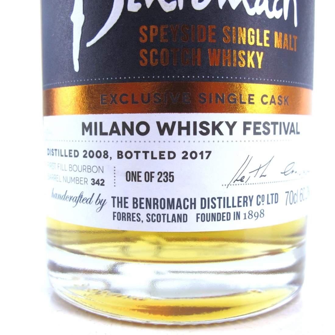 Benromach 2008 Single Cask #342 / Milan Whisky Festival 2017
