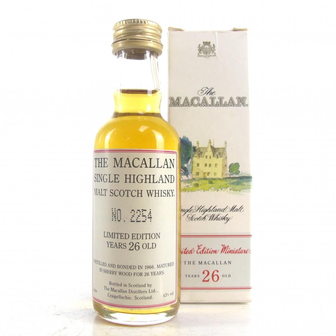 Macallan 1966 26 Year Old Miniature 5cl
