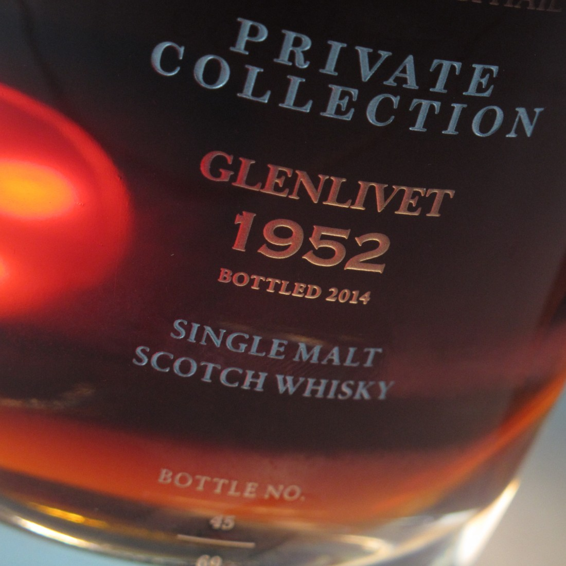 Glenlivet 1952 Gordon and MacPhail 62 Year Old / Private Collection Ultra
