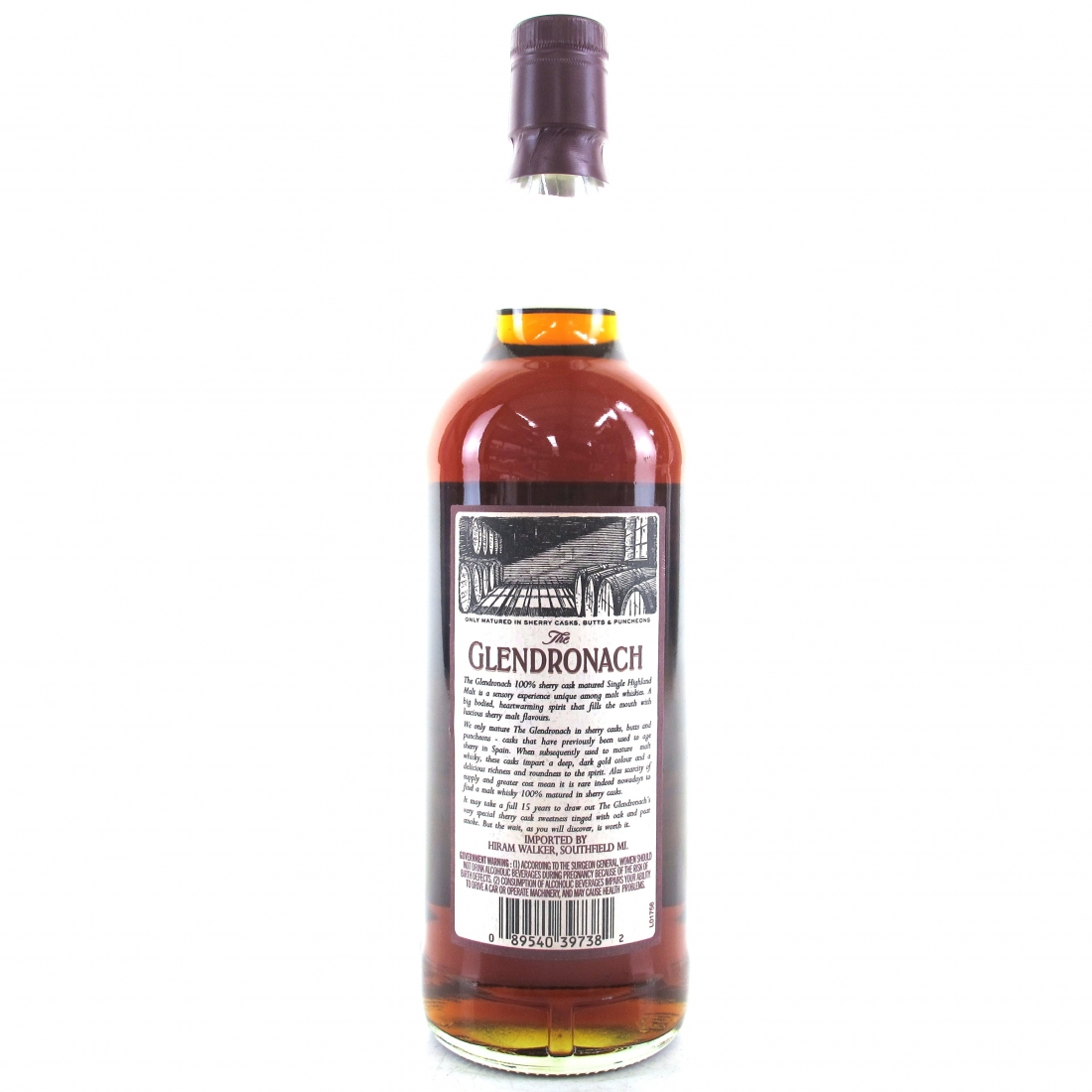 Glendronach 15 Year Old 75cl 1990s / US Import