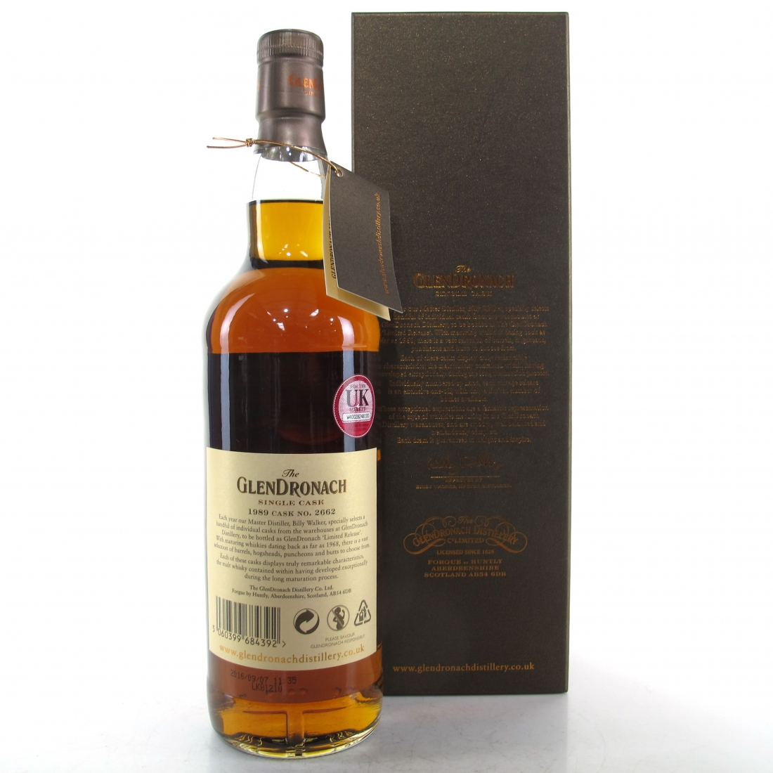Glendronach 1989 Single Cask 26 Year Old #2662