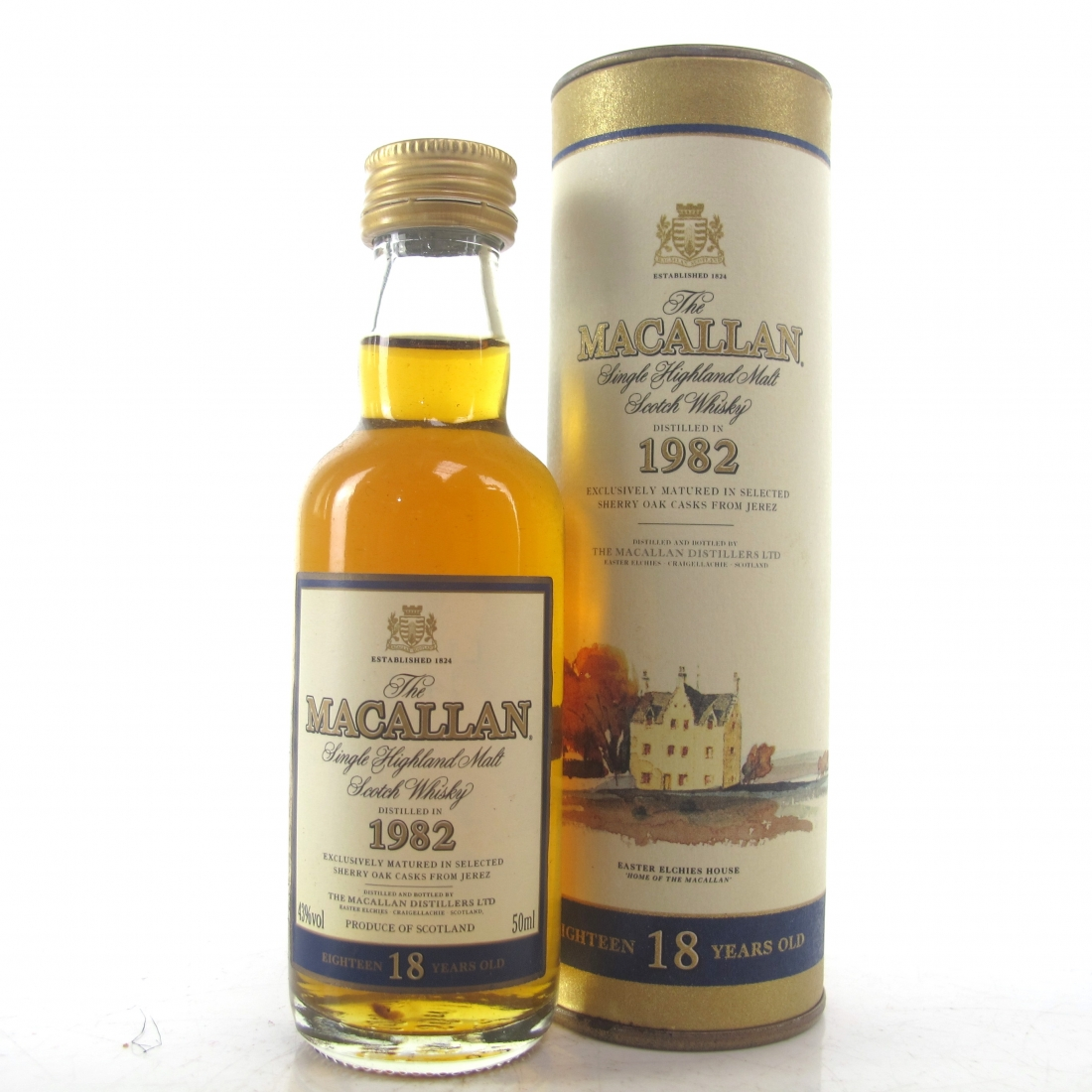 Macallan 18 Year Old 1982 Miniature 5cl