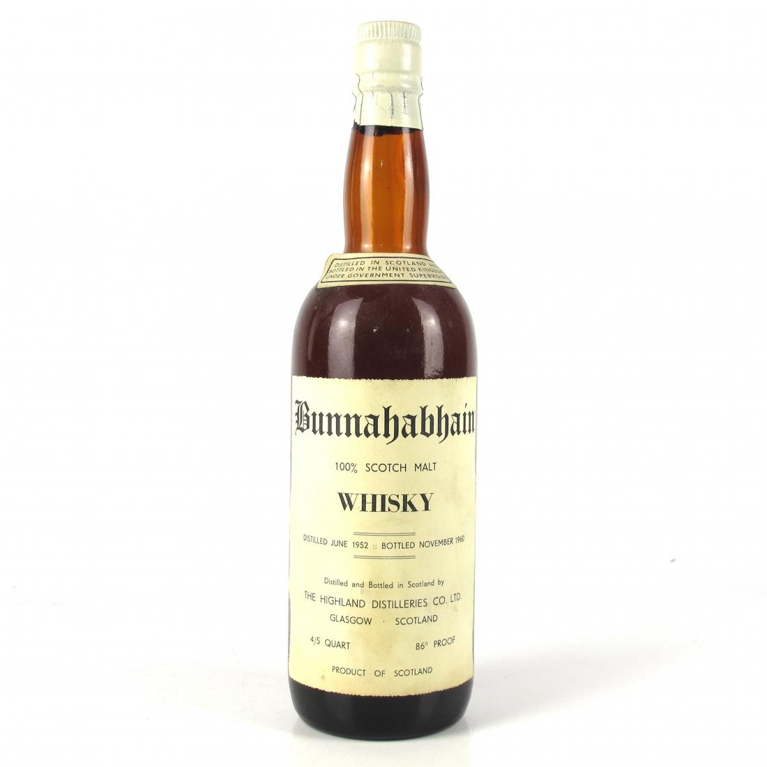 Bunnahabhain 1952 8 Year Old / US Import