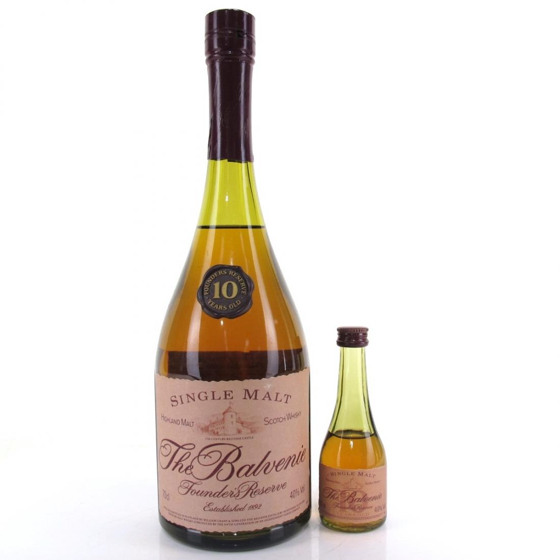 Balvenie 10 Year Old Founder's Cognac Bottle / Including Miniature