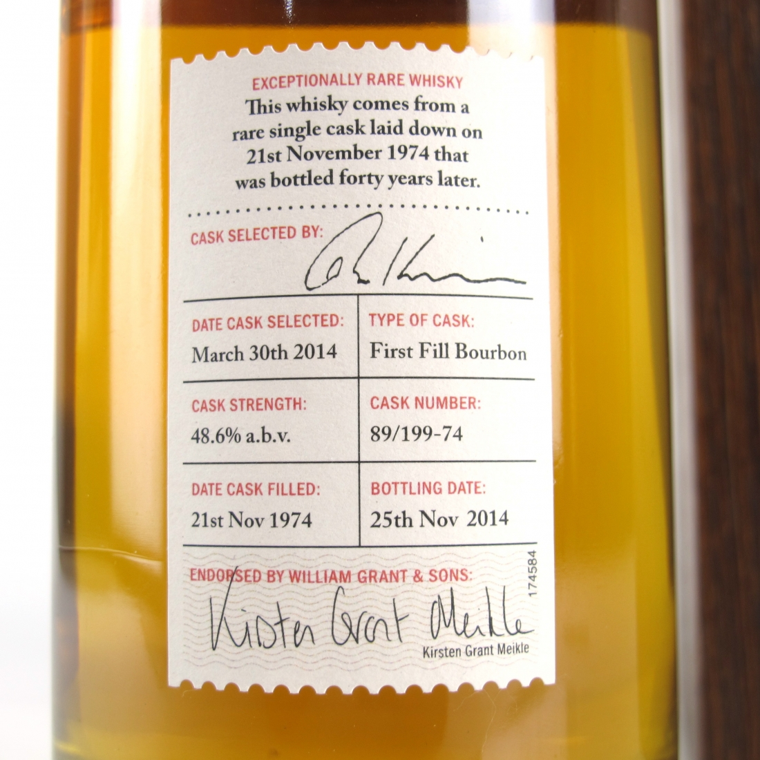 Ladyburn 1974 Private Cask Collection 40 Year Old