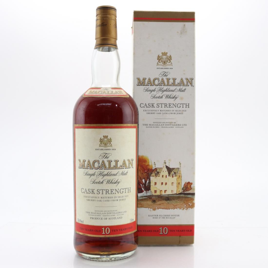 Macallan 10 Year Old Cask Strength 1 Litre / 58.8%