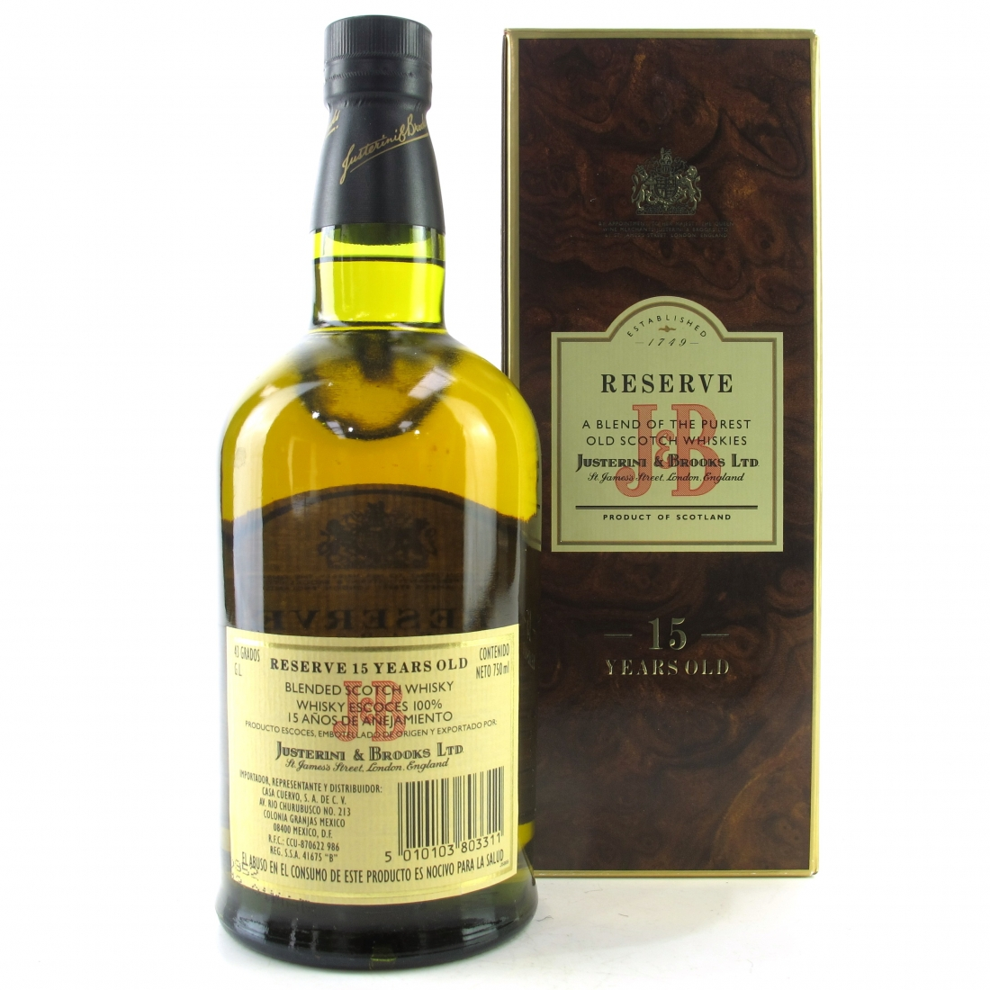 J&B 15 Year Old Reserve / Mexican Import
