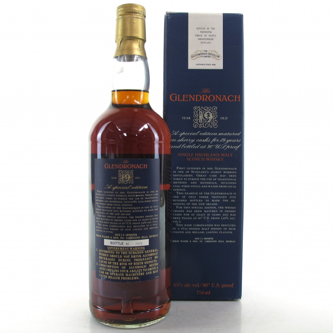 Glendronach 19 Year Old Special Edition 1989 / US Import
