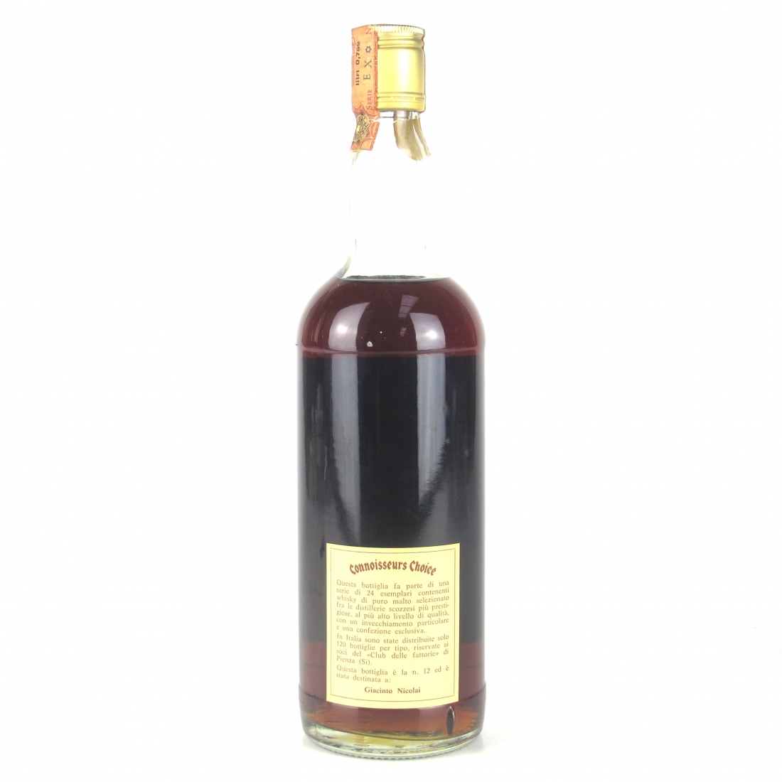 Glenrothes 1954 Gordon and MacPhail 27 Year Old / Pinerolo Import