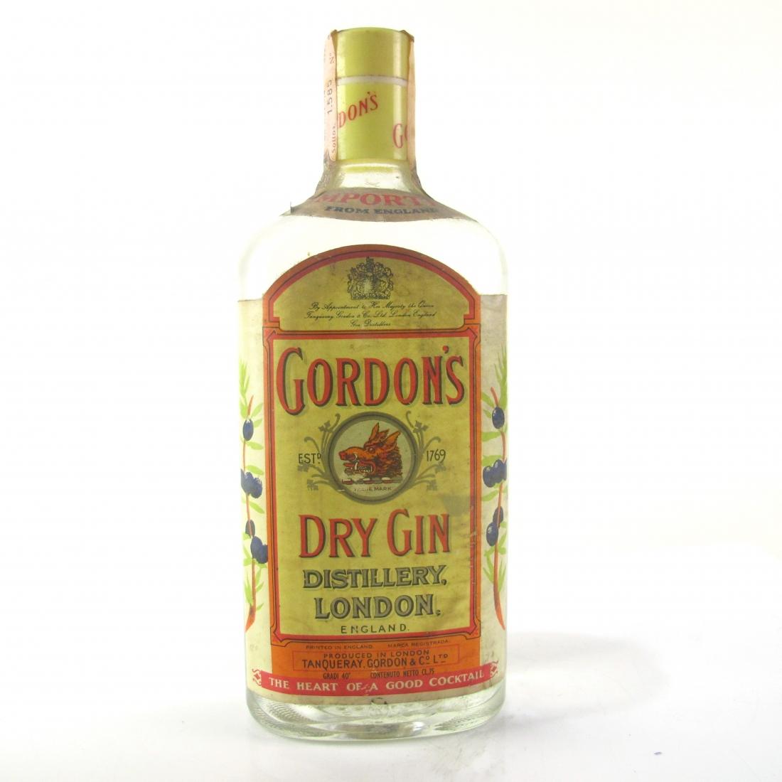 Gordon's Dry Gin 1970s