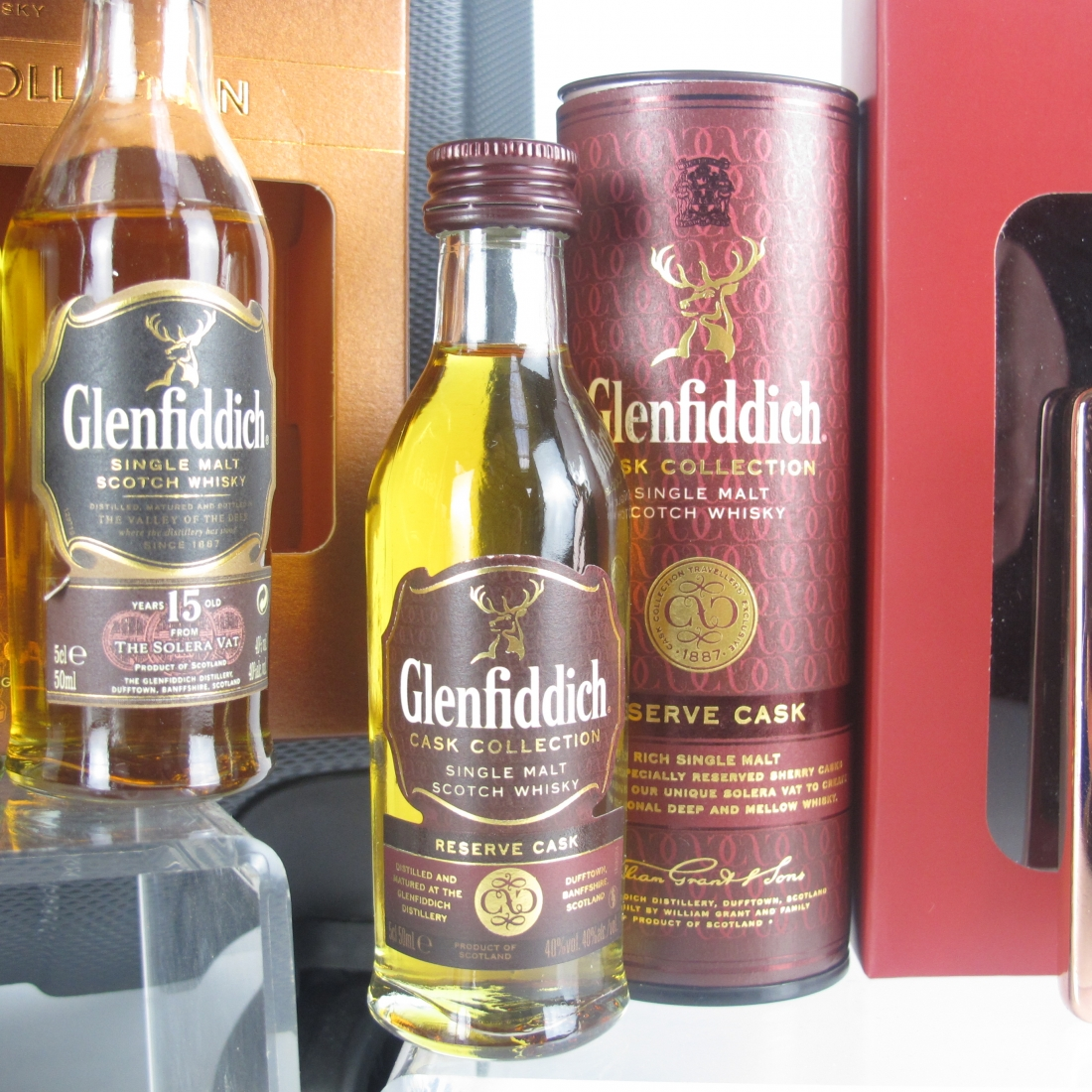 Glenfiddich Memorabilia and Miniature Gift Pack Selection 7 x 5cl