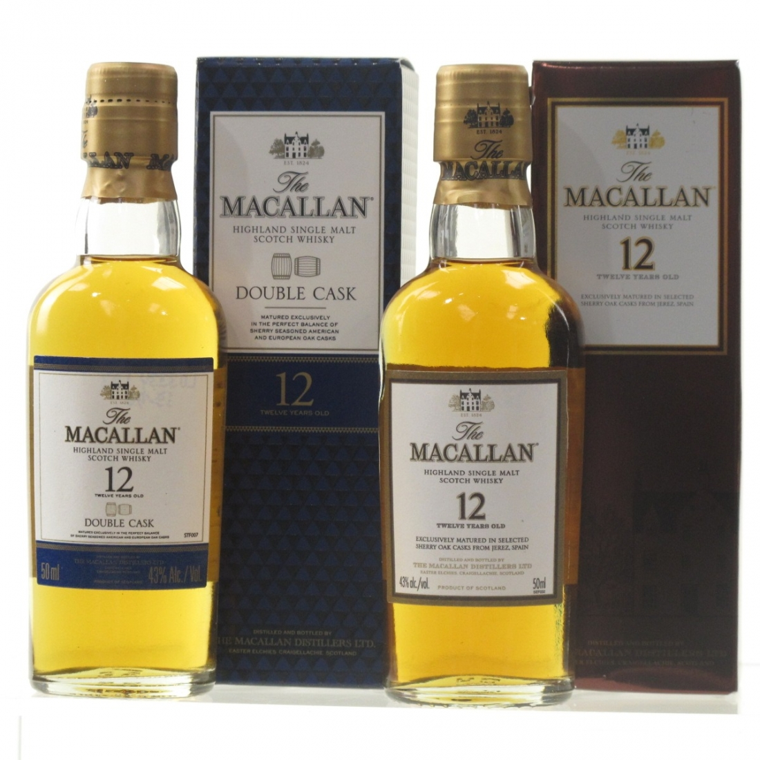 Macallan 12 Year Old and Double Cask Miniature 2 x 5cl / US Import