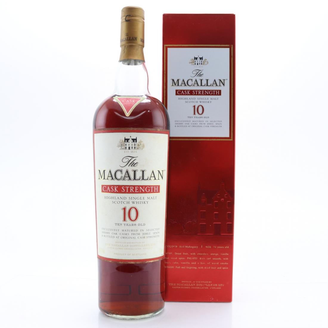 Macallan 10 Year Old Cask Strength 1 Litre / 58.1%