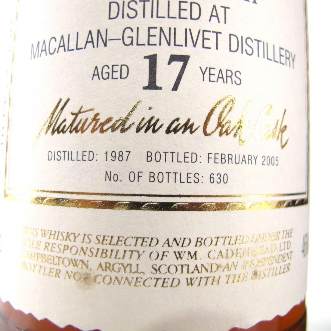 Macallan 1987 Cadenhead's 17 Year Old