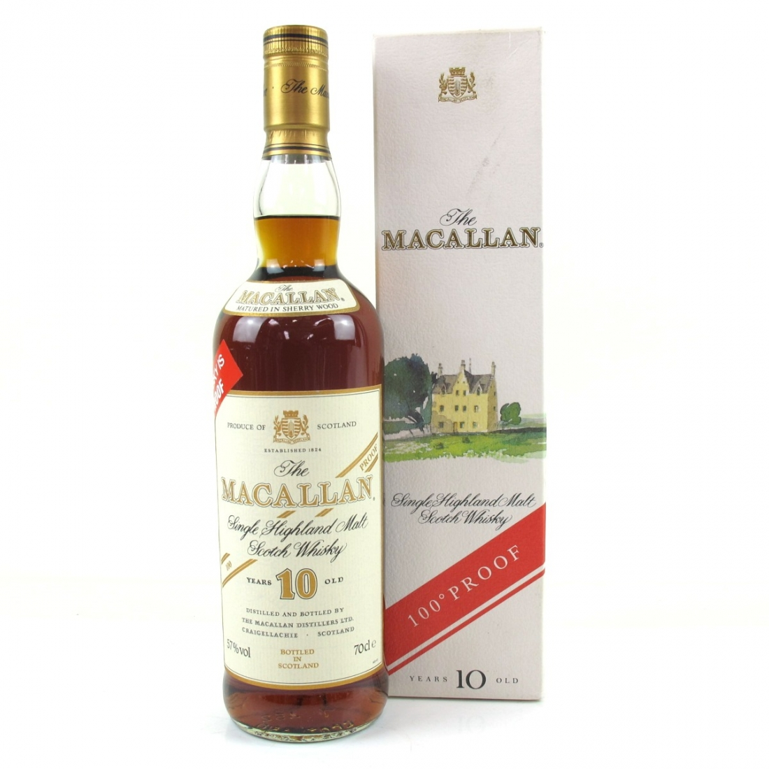 Macallan 10 Year Old 100 Proof 1990s