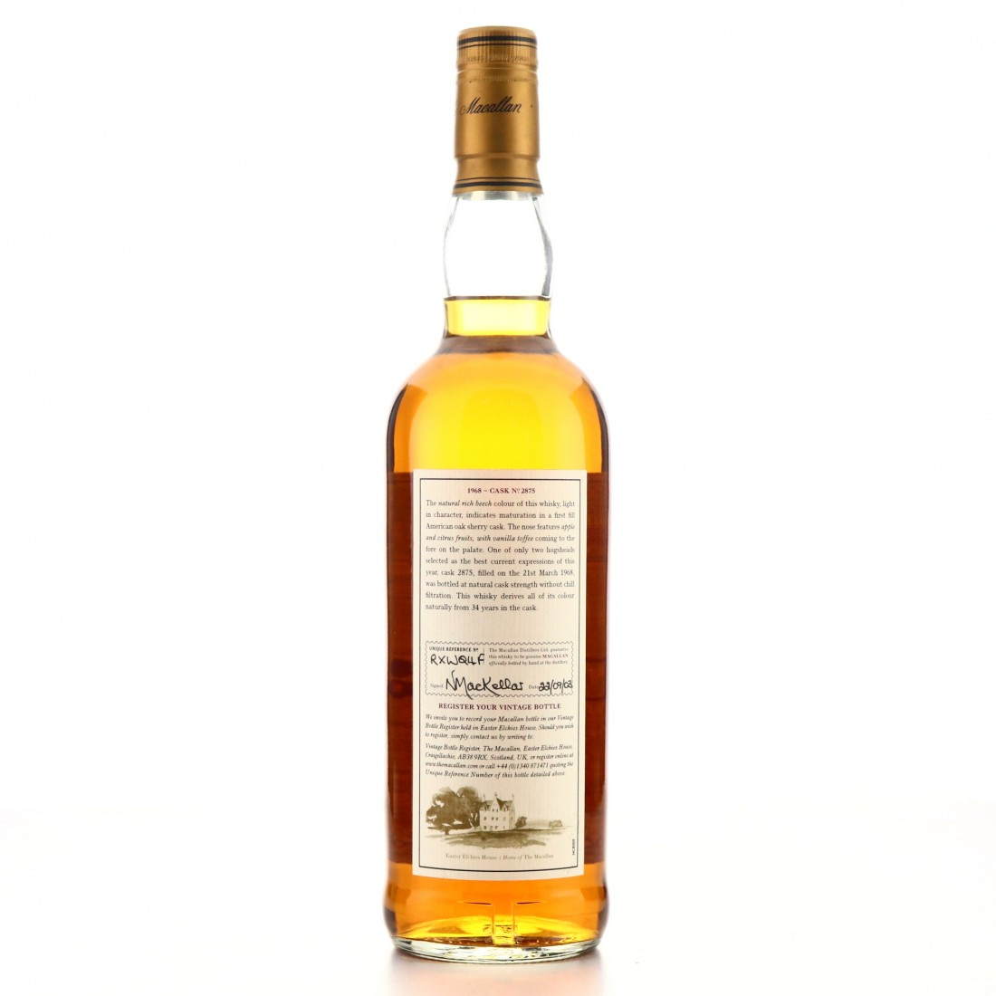 Macallan 1968 Fine and Rare 34 Year Old #2875