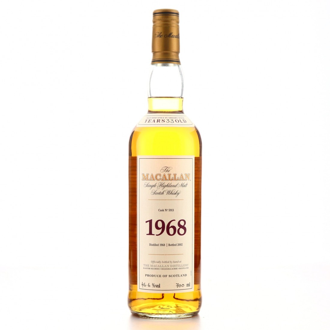Macallan 1968 Fine and Rare 33 Year Old #5913