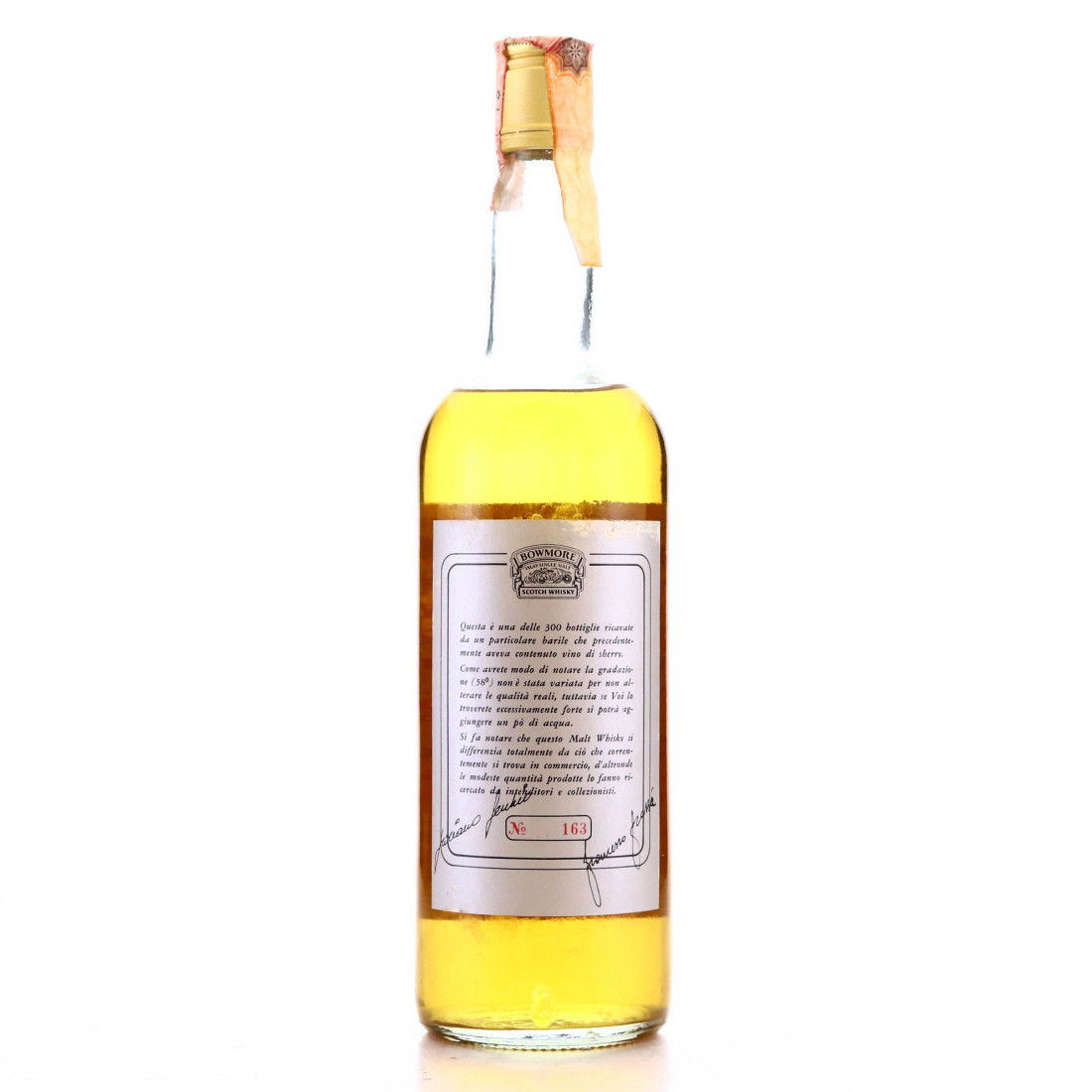 Bowmore 1969 Single Cask #6634 for Edoardo Giaccone / Fecchio & Frassa Import