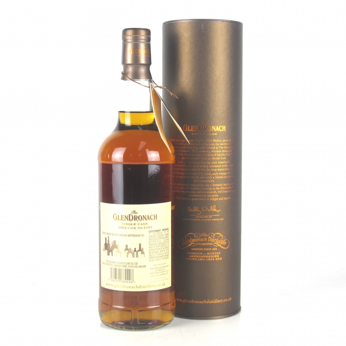 Glendronach 2003 Single Cask 11 Year Old #4103 75cl / Origin Beverage Co. US Exclusive