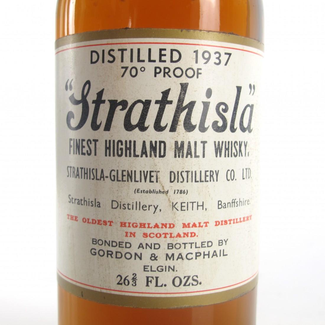 Strathisla 1937 Gordon and MacPhail 70 Proof / Pinerolo Import