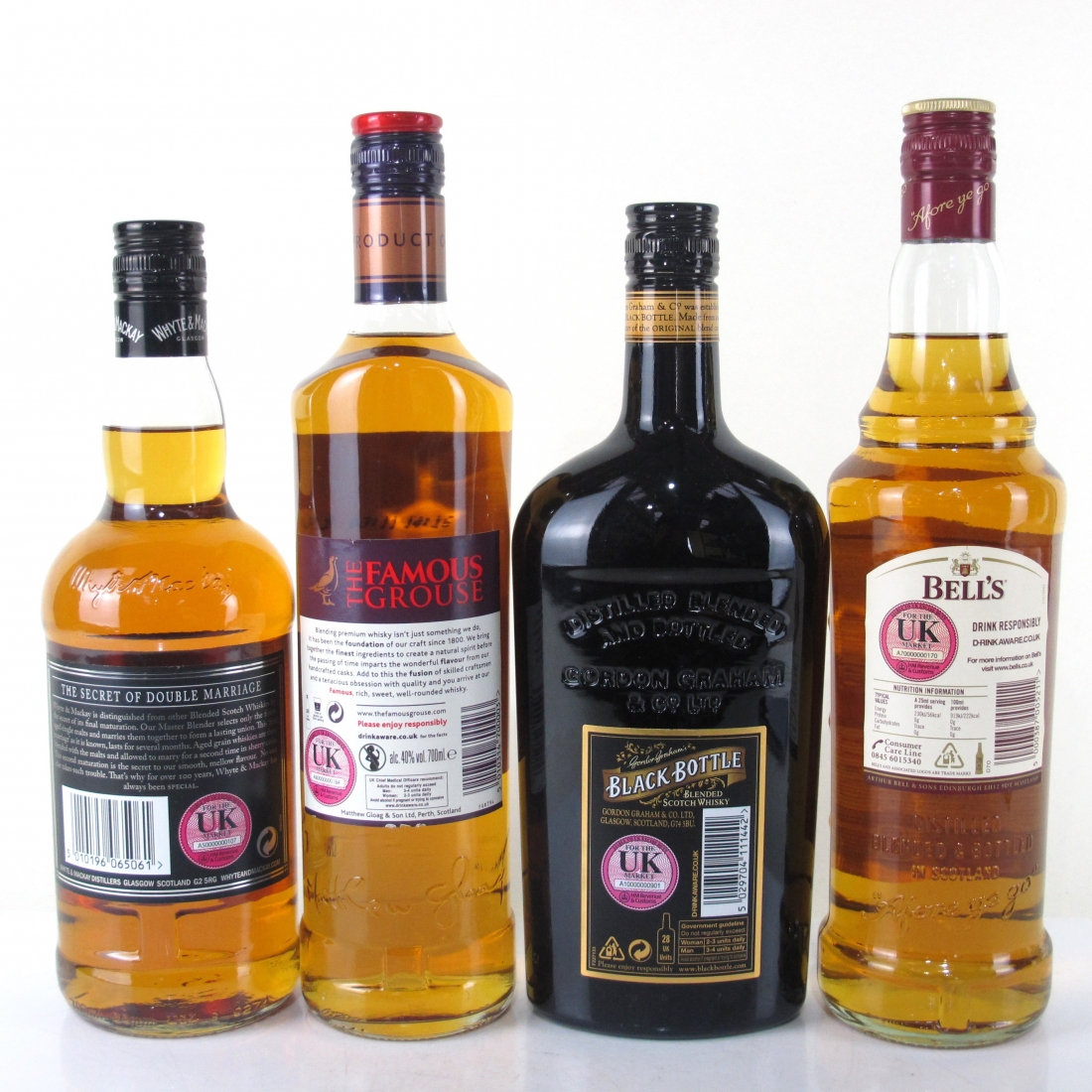 Miscellaneous Blended Whisky Selection 4 x 70cl