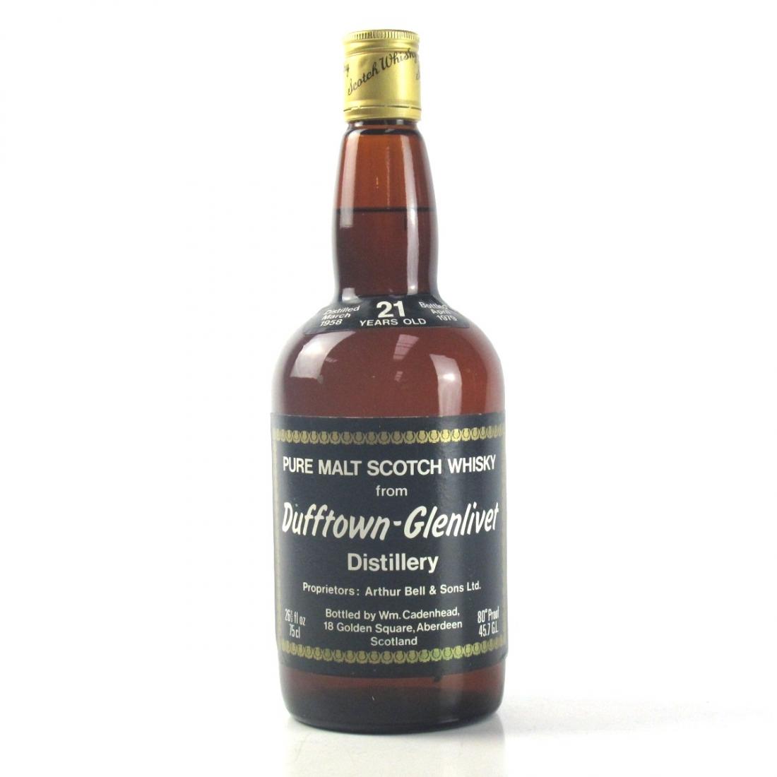 Dufftown-Glenlivet 1958 Cadenhead's 21 Year Old