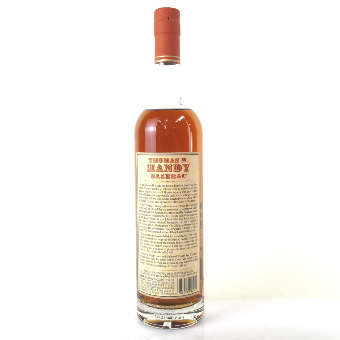 Thomas H. Handy Sazerac Rye 2015 Release
