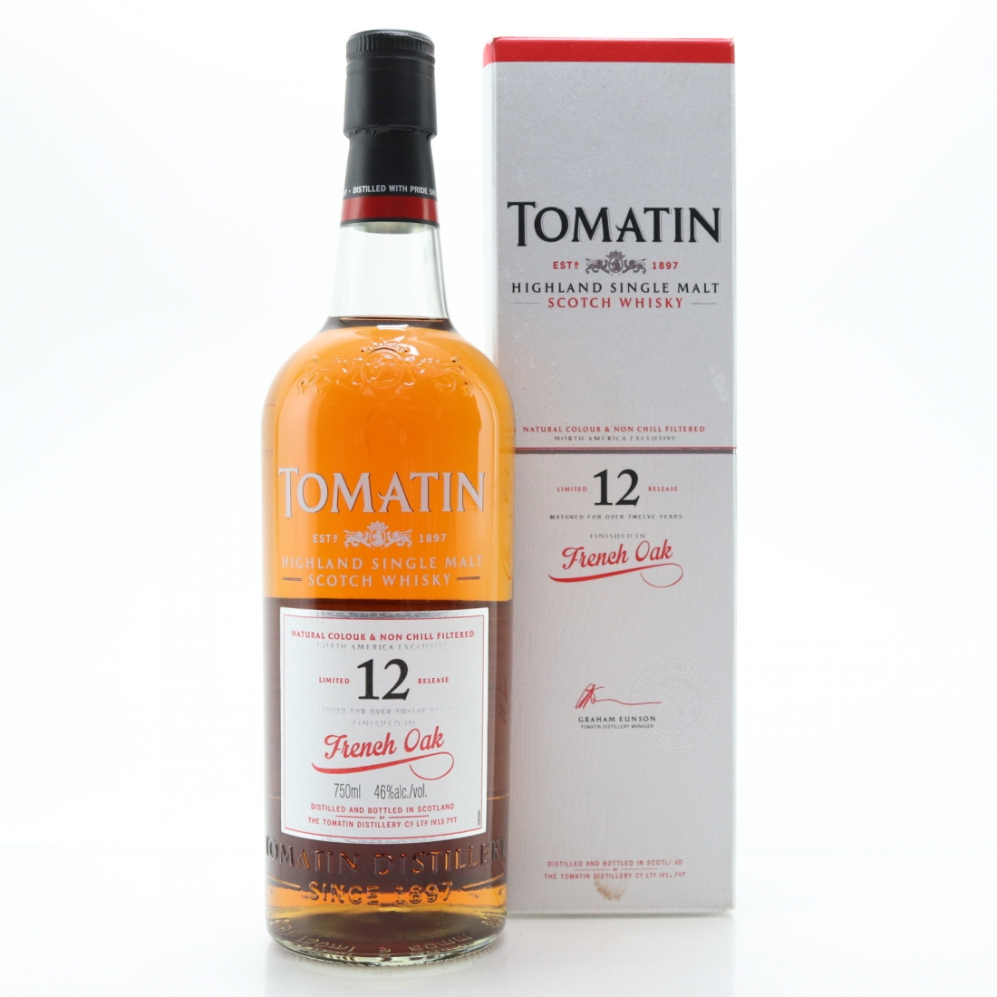Tomatin 12 Year Old French Oak Finish 75cl / US Exclusive