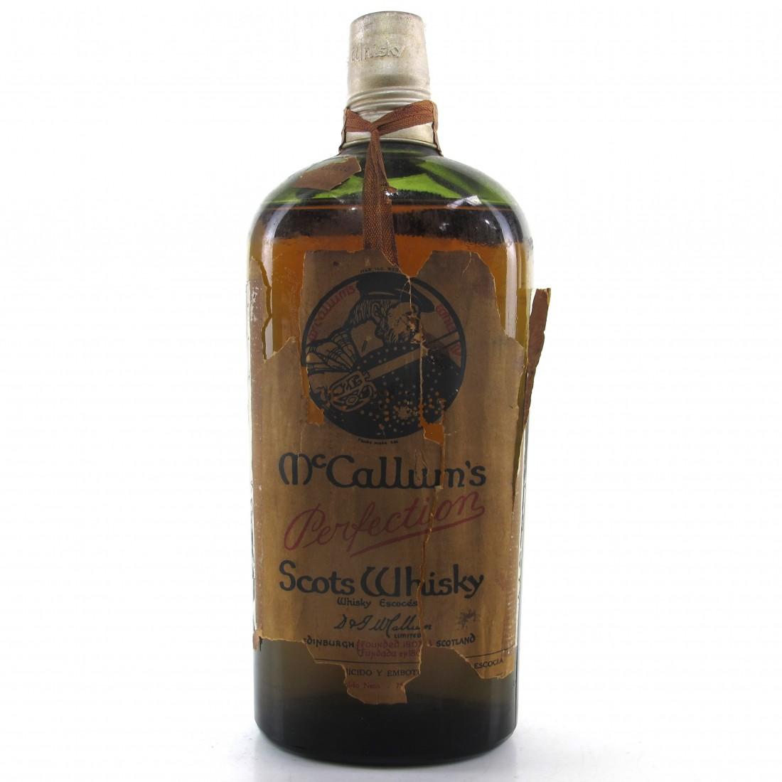 McCallum's Perfection Scots Whisky 1960s