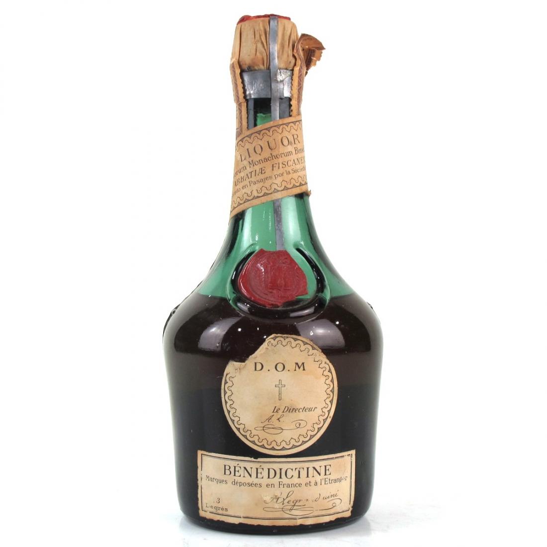 Benedictine D.O.M Liqueur 1960s Half Bottle