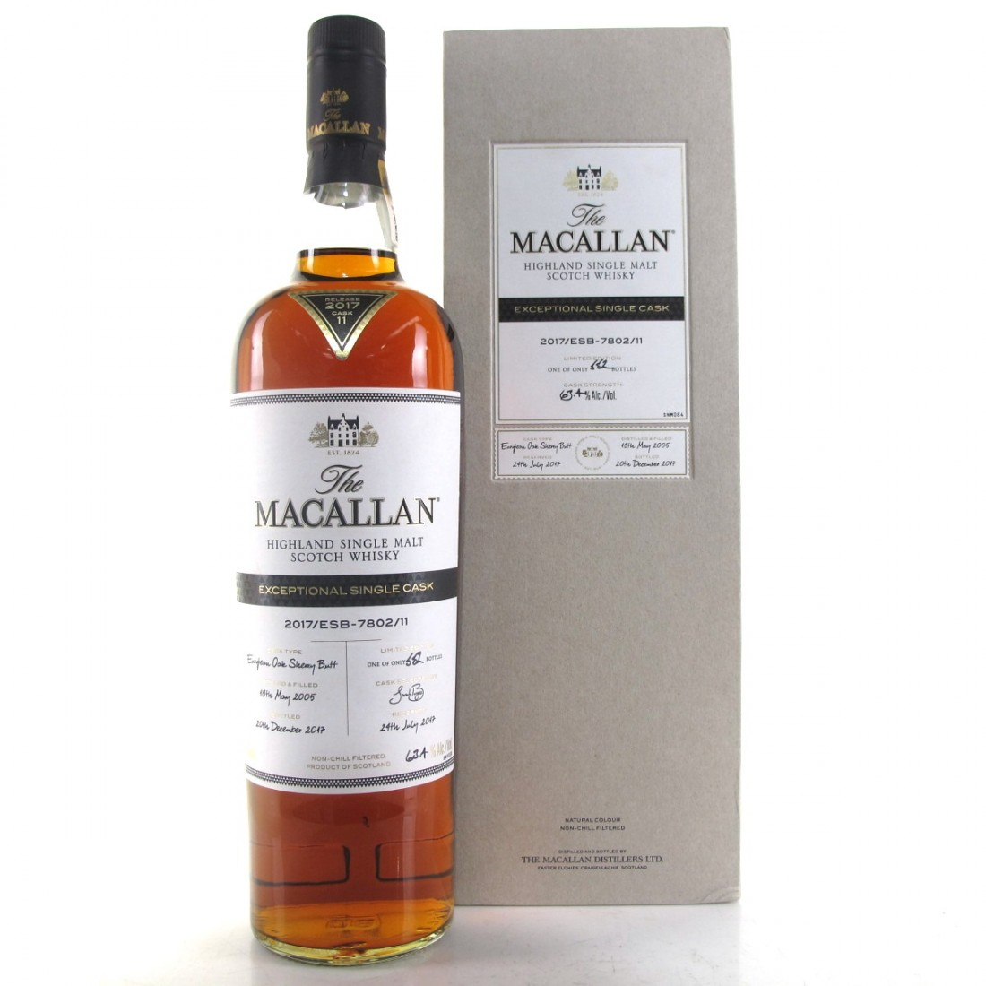 Macallan 2005 Exceptional Cask #7802-11 / US Import 75cl