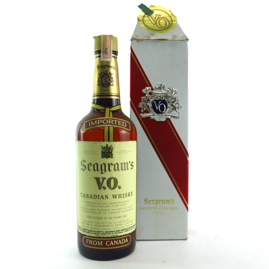 Seagram's 1974 VO 6 Year Old Canadian Whisky