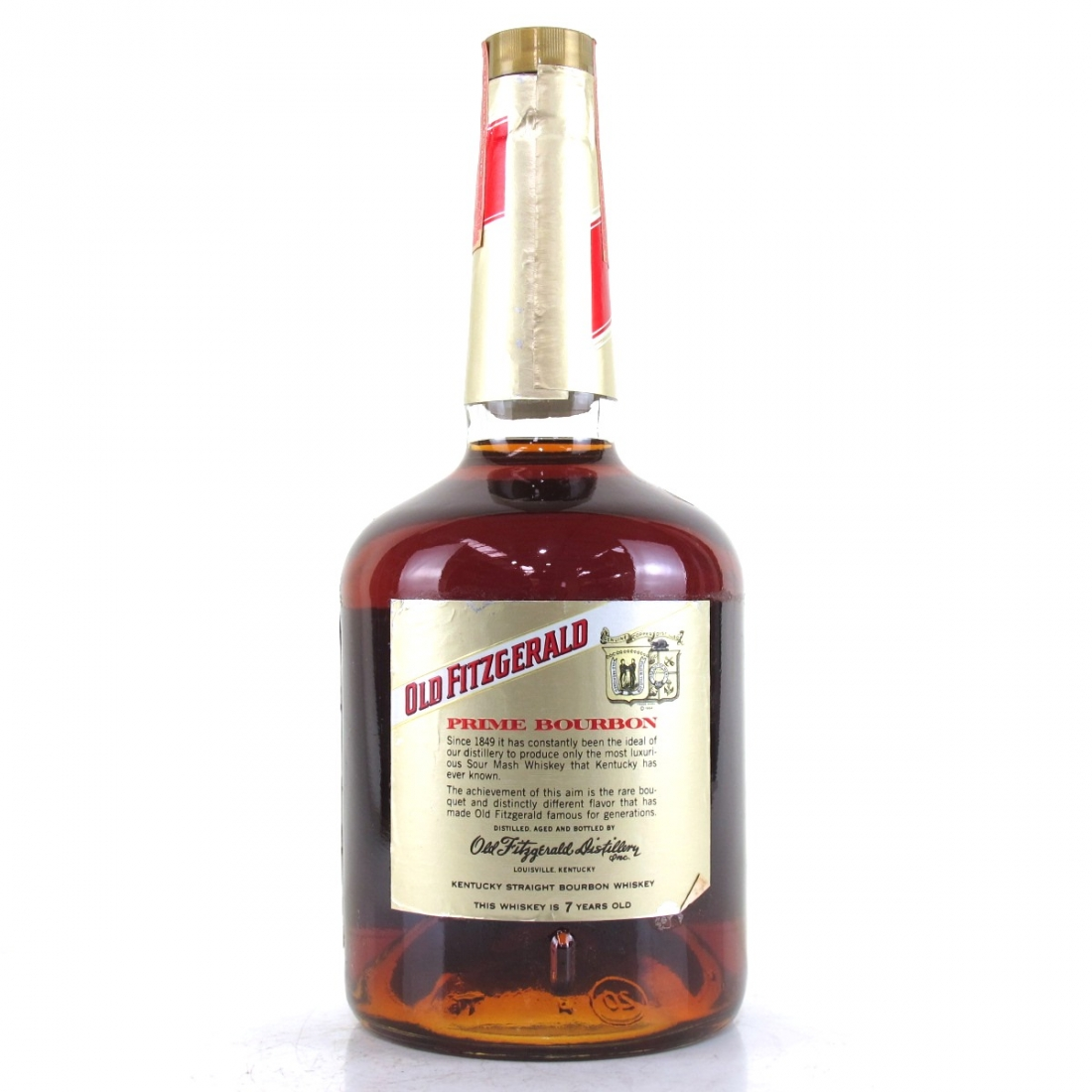 Old Fitzgerald 7 Year Old Prime Bourbon 1 Litre 1970s