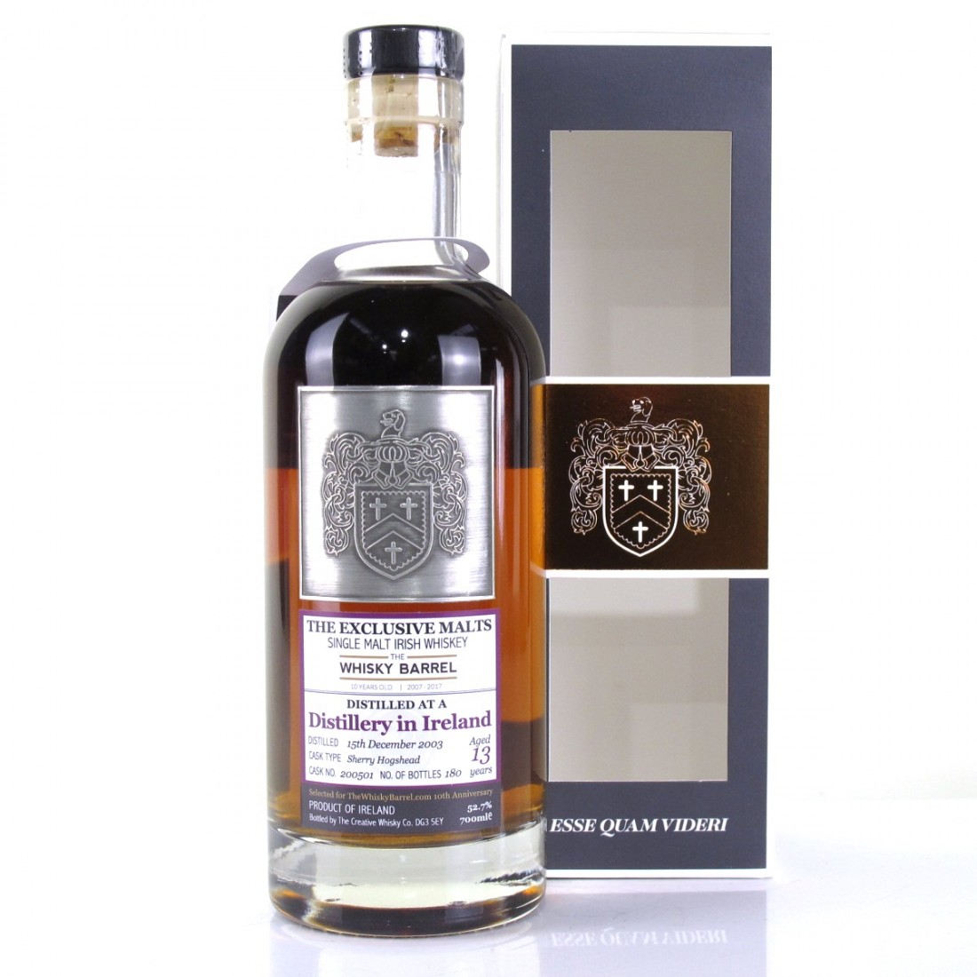 Irish Single Malt 2003 Creative Whisky Co 13 Year Old / Cooley