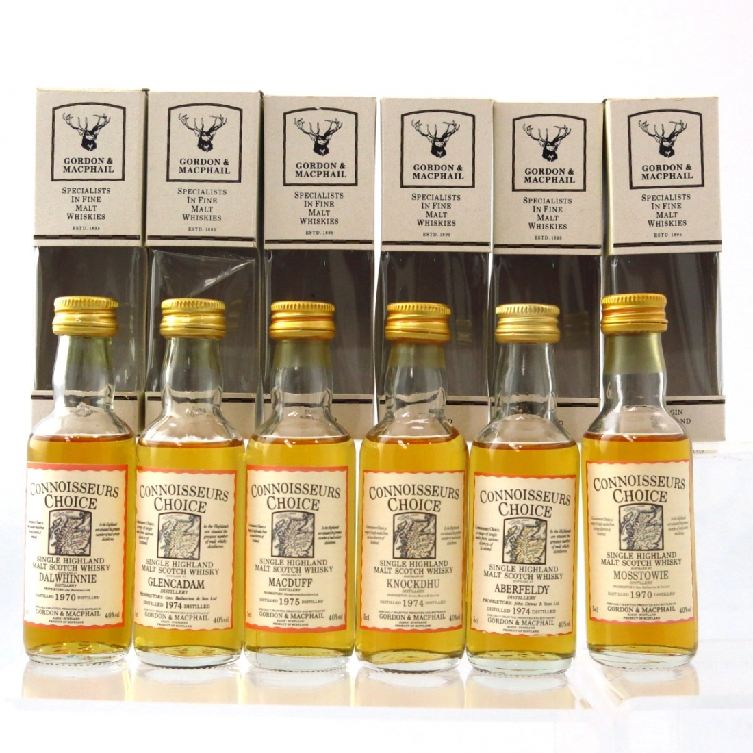 Gordon and MacPhail Highland Single Malt Miniatures 6 x 5cl